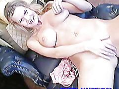 Busty chick lisa toying her pussy