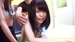 Cute jav idol teens bibi yuna ayu fucked in the gym petite babes just look fantastic