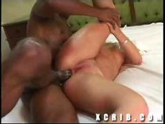 Blonde and a big black cock