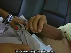 Backseat monster dick blow