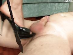 Hard trampling and foot worship