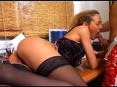 Lady margaux in the office