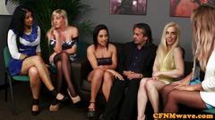 british, femdom, group, cumshot, cfnm, handjob