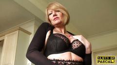 amateur, granny, british, lingerie, stockings