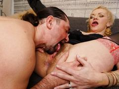 Big ass blonde mature lady gets fucked hard