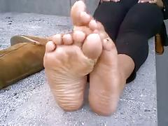 Cute black girl hot feet