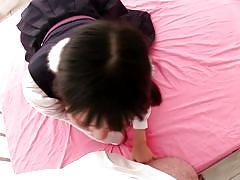 Sweet japanese girl is wet for me