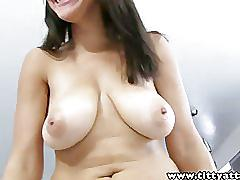 Tittyattack big natural tits latina stacey foxxx fucked cum on boobs