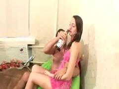 Russian drunken teen