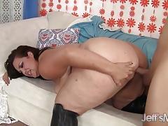 Horny plumper fucked hard