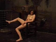Sm woman in extreme pain bondage