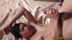 Japanese twink solo tugs sexy clip 1