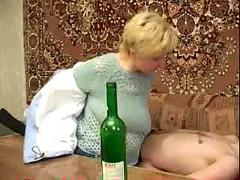 Granny drunk a man just to fuck her