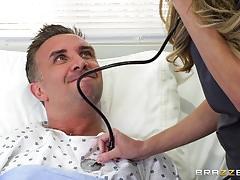 Kinky babe nurse pristine edge wants cock down her throat