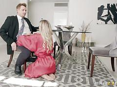 Hot blonde wife jessa cheating with husband's business partner