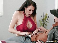 Busty milf is cheating on her hubby