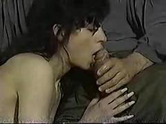 Brunette fucked while boyfriend watches