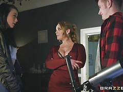 Busty french mom liza takes charge of a hard cock