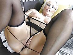 blonde, big ass, big tits, mature, solo, masturbation, stockings, fingering, pussy rubbing, mature nl, debbie xxx