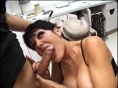 pornstar, milf, blowjob, handjob, brunette, deepthroat, shorthair