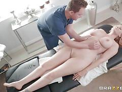 Blonde milf julia enjoying an erotic massage