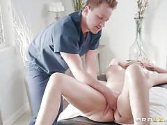 Blonde milf julia enjoying an erotic massage