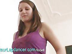 19 yo czech brunette lapdances for horny guy