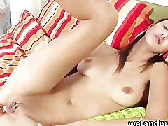College girl trying out anal pleasure