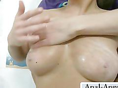 anal, skinny, cream, creampie, shaved, couple, homemade