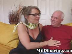 stockings, milf, blowjob, mom, kissing, couple, mommy, older, doggie, cougar, cuckold, foreplay, cub