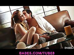 Stunning petite teen jessie andrews seduces her man