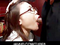 Classy japanese babe ibuki gives amazing blowjob