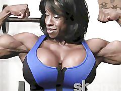 ebony, muscle, fitness, biceps, abs, posing, flexing, black