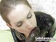 Lelu lovecatsuit gloves condom blowjob