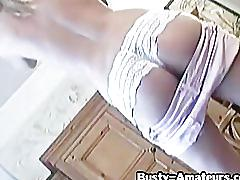 Busty babe lisa with her sticky fingers 1