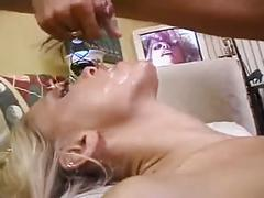 Sexy blonde having sex