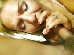 My granny slut swallows a load