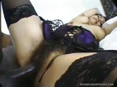 Dick for nikki's hairy pussy
