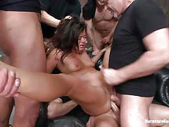 small tits, anal, gangbang, punishment, blowjob, double penetration, couch, from behind, brunette milf, floor, cece stone, john strong, mr. pete, alex gonz, marco banderas, mark davis, hardcore gangbang, kinky dollars