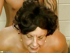 big tits, saggy tits, vintage, cougar, moaning, from behind, riding cock, tattooed guy, fat, brunette mature, on the floor, mature retro, mature money