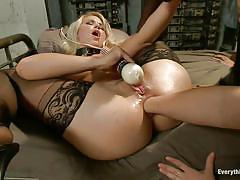 blonde, big ass, high heels, anal fisting, stockings, vibrator, lesbian threesome, brunette, natural tits, moaning, collar, anikka albrite, katja kassin, anissa kate, everything butt, kinky dollars