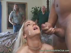 Wife screwed two black cocks
