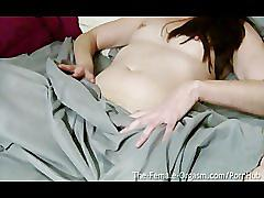 Sopping wet and hairy olivia adams self films masturbating to orgasm