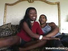 Simone's interracial dp and blowjob