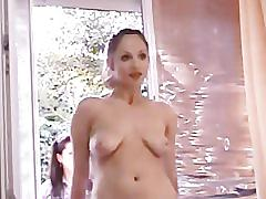 Girl masturbating next to window as girls play with her by twistedworlds