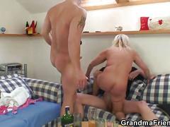 Two dudes fuck drunk oldie
