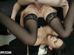 anal, brunette, hardcore, stockings, lara braun, anal sex, assfucking, brown hair, cowgirl, doggy style, gaping hole, missionary, pantyhose