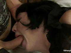 bondage, bdsm, tied, long hair, stockings, blowjob, fingering, brunette milf, ropes, blonde shemale, coral aorta, joanna jet, ts pussy hunters, kinky dollars