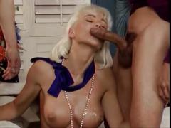 Very beautiful busty blonde babe takes 100 cumshots, dutch german helen duval