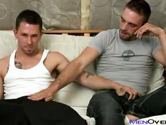 Lewd studs james and joe hot anal sex